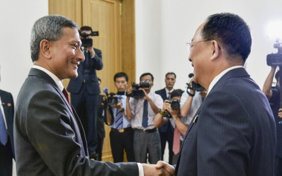 [US-NK Summit] NK, Singaporean foreign ministers meet ahead of Kim-Trump summit