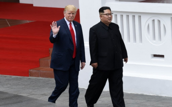 [US-NK Summit] Trump says 'fantastic progress' made at summit