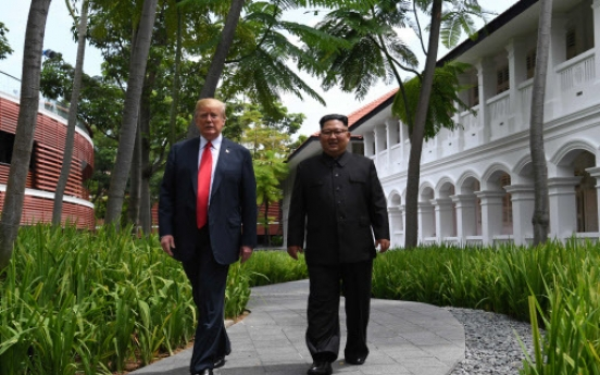 [US-NK Summit] N. Korea media herald Kim's Singapore stroll