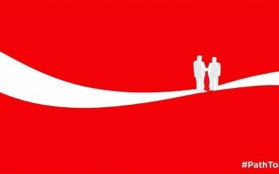 [US-NK Summit] Coca-Cola touts 'peace, hope and understanding'