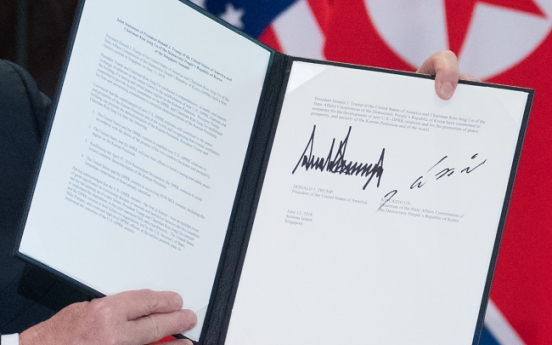 [US-NK Summit] Full text of the Trump-Kim joint statement