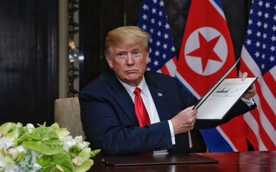 [US-NK Summit] NK's denuclearization will start 'very quickly': Trump