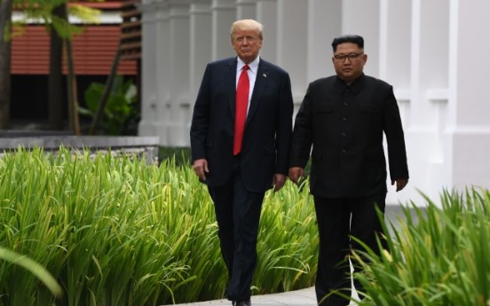 [US-NK Summit] Unusual moments loosen up mood for Trump-Kim summit