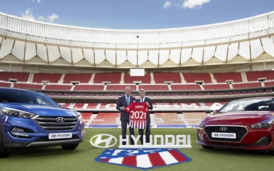 Hyundai Motor to sponsor La Liga's Atletico Madrid