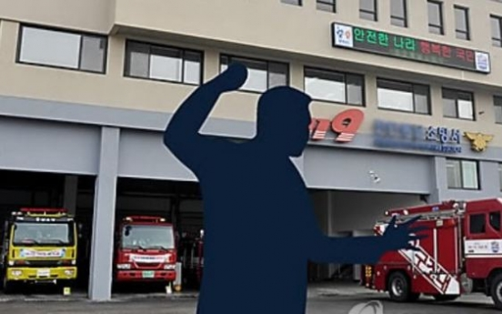 Drunkard booked for punching firefighter who rescued him