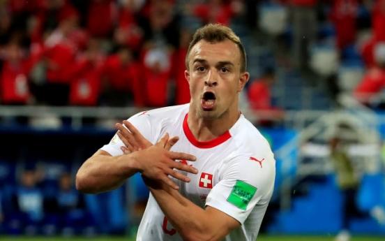 [월드컵] '독수리세리머니' 스위스 선수들 징계받을 듯…FIFA 조사