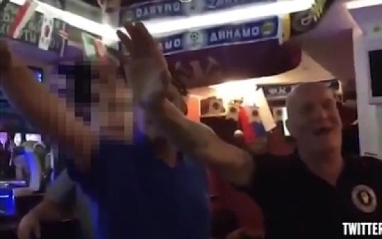 [월드컵] 나치 흉내 낸 영국 팬, 5년간 경기장 출입 금지