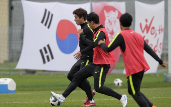 [World Cup] After painful defeat to Mexico, S. Korea conduct post-match training in rain