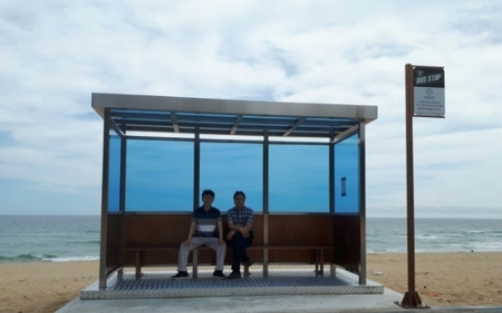 Gangneung sets up bus stop featured on BTS album cover