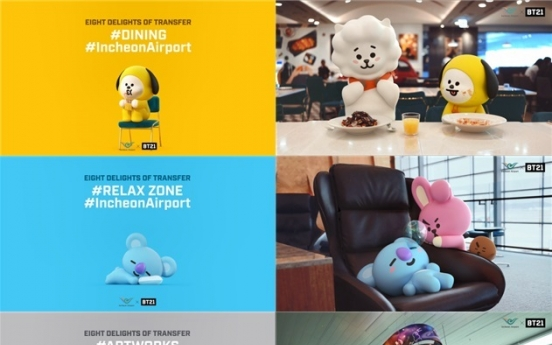 Incheon Airport signs on BTS to target millennial tourists