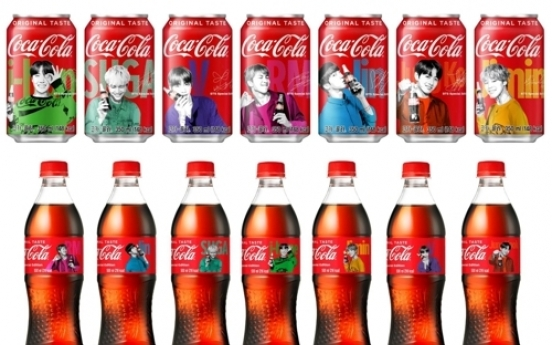 BTS on Coca-Cola cans