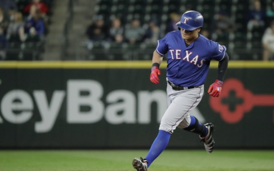 On-base streak ends at 52 games for Rangers' Choo Shin-soo