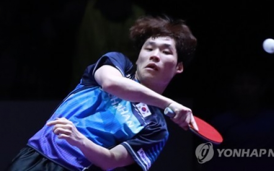 S. Korean table tennis player grabs 3 int'l titles at home