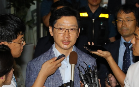 Investigators to summon Gov. Kim again for questioning over opinion-rigging scandal