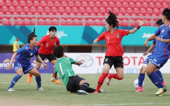 S. Korea defeat Chinese Taipei 2-1 to start women's football competition
