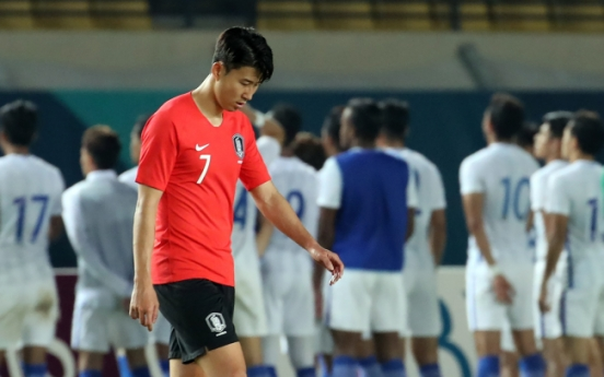 Son's Asian Games hopes rocked by minnows Malaysia