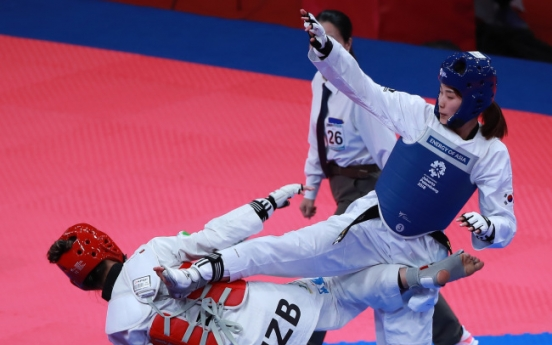 S. Korea's Kim Jan-di wins silver in women's taekwondo 67kg