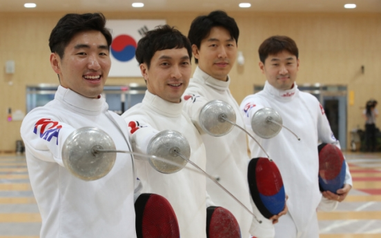 Korea takes bronze in men's team epee fencing