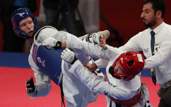 Taekwondo fighter Lee Hwa-jun wins silver in men's 80kg