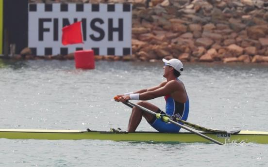 Korea wins 3 silver, 1 bronze in rowing