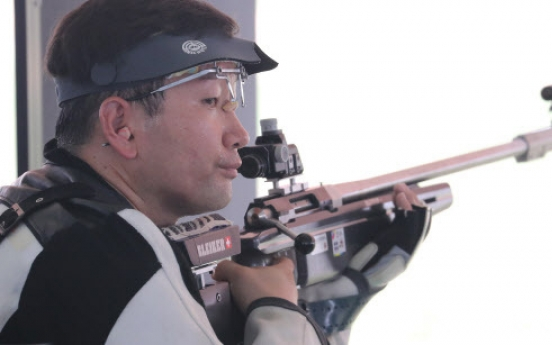 S. Korean shooter Choi Young-jeon wins gold in men's 300m standard rifle
