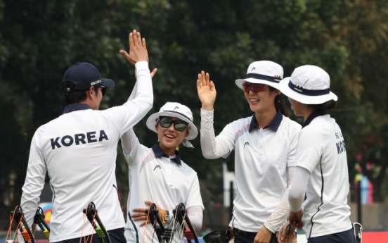 Korea wins gold in women's team compound archery