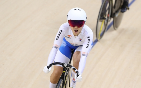 S. Korean cyclist Lee Hye-jin wins silver in women's keirin