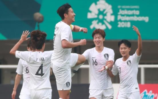 Korea face Japan in men's football final