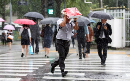 [Weather] Heavy rain to pour down nationwide Monday