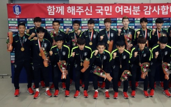 U-23 football team players return to heroes' welcome with Asiad gold
