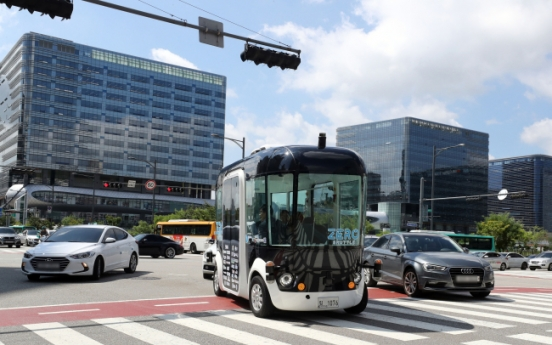 Korea's autonomous shuttle begins test run
