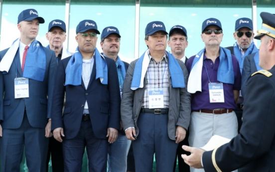 Ambassadors visit DMZ