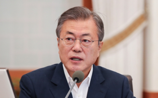 Moon calls on opposition parties to drop partisan politics