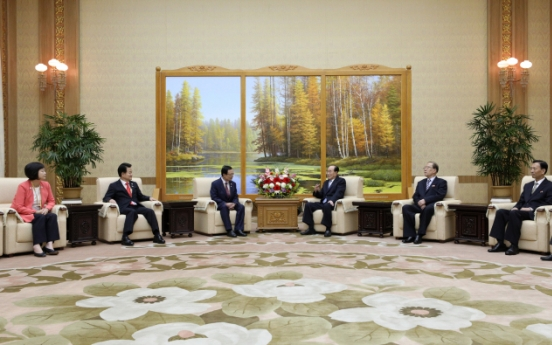 South Korean party leaders meet with NK parliamentary chief