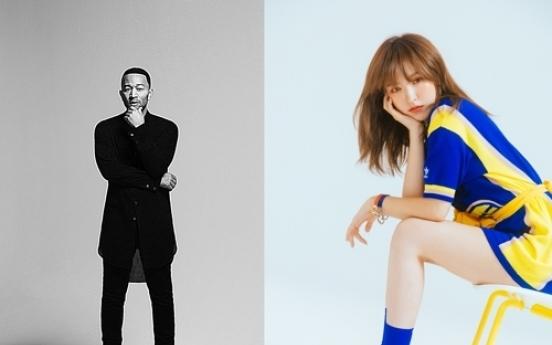 John Legend sings duet with Wendy