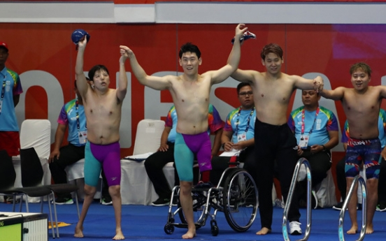 Unified Korean swimming team takes bronze at Asian Para Games