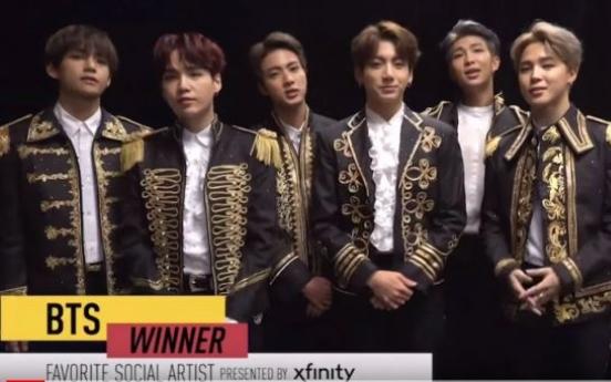 BTS wins favorite social artist award at American Music Awards