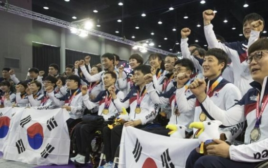 S. Korea finishes 2nd in medal table at Asian Para Games in Jakarta