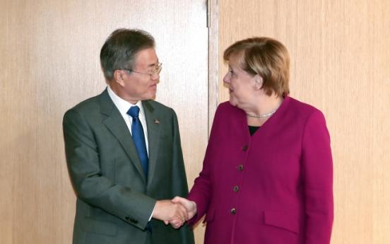 Moon, Merkel hold summit on bilateral ties, North Korea