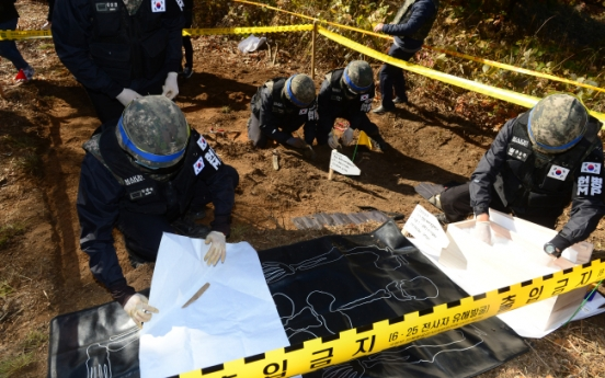 Korean War remains recovered inside DMZ during demining operation