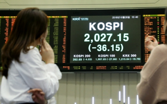 Korean stock markets in free fall, downward pressure to persist