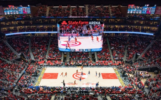 [Photo News] Samsung lights up Atlanta Hawks' home arena