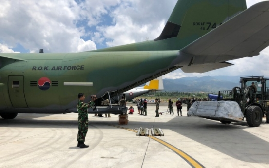 Korea to re-send military cargo jet to quake-hit Indonesia