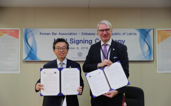 Latvia, Korea sign legal cooperation accord