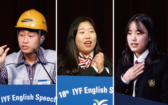 3 awarded grand prize in IYF English Speech Contest