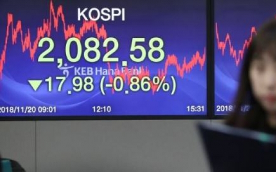 Seoul shares close lower, tracking Wall Street