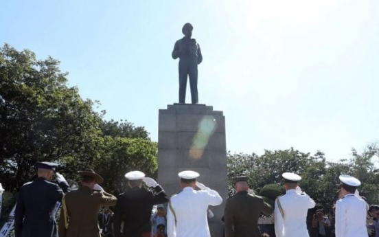 [Newsmaker] S. Korean pastor arrested for setting fire on MacArthur statue