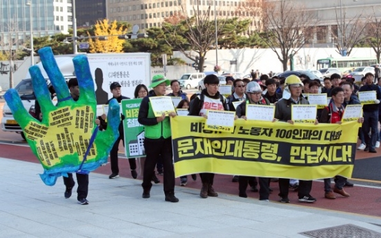 Union for temporary workers demands direct talks with president