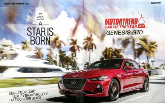 Genesis G70 named car of the year by US magazine