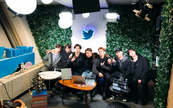 Behind the scenes at GOT7's Twitter #Blueroom live